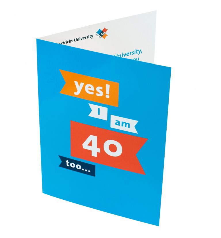 Uitnodiging 40-jarig jubileum Maastricht University