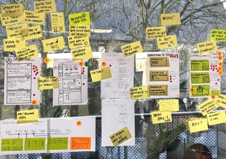 Prototyping bij creative consultancy Zuiderlicht, Maastricht designsprints co-creatie