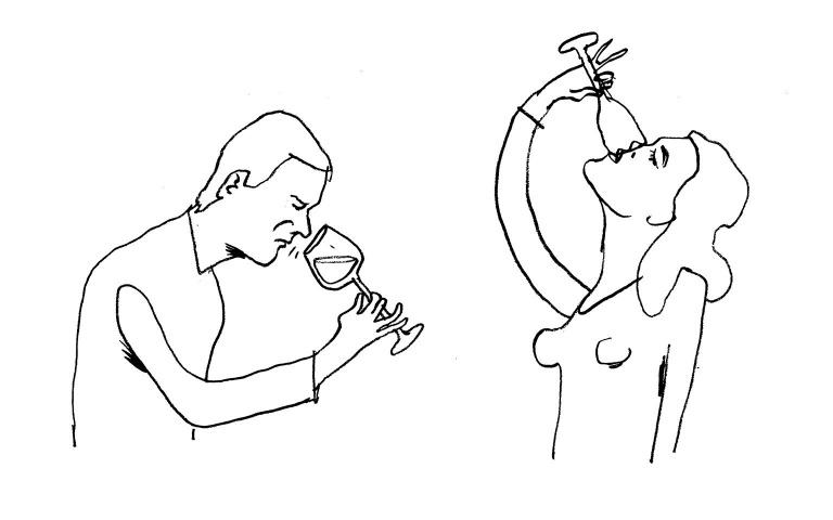 Illustratie Paul Faassen voor Café Sjiek Maastricht