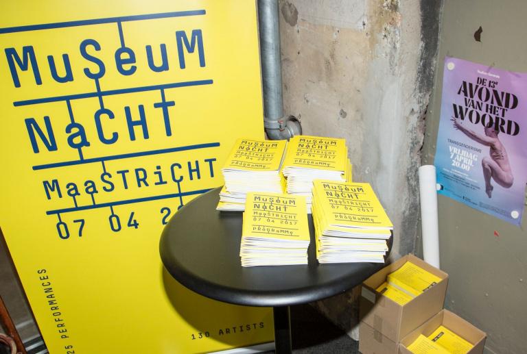 Museumnacht Maastricht programmaboekjes en roll-up banner