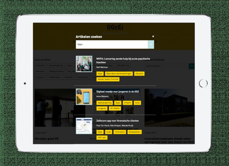 Zoekfunctie GGzEi website voor GGzE