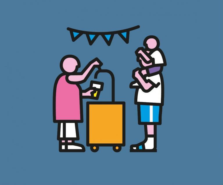 Woonpunt illustratie: feestje