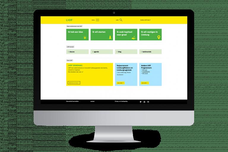 LIOF website ontwerp