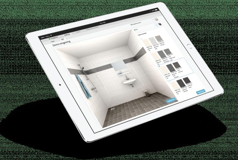 Digitale strategie bij creative consultancy Zuiderlicht, Maastricht Mosa 3D tegel