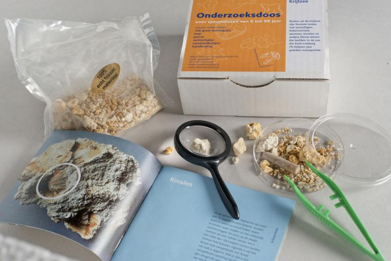 Onderzoeksdoos Limburgse Krijtzee van Natuurhistorisch Museum Maastricht