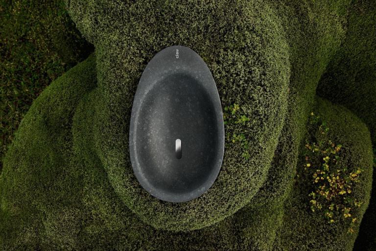 Wastafel op IJslands mos voor Clou Bath Findings