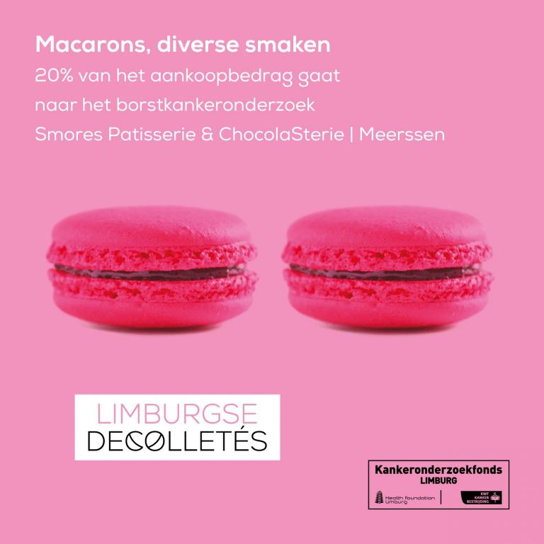 Limburgse Decolletés macarons Smores Patisserie & ChocolaSterie