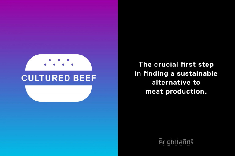Illustratie cultured beef voor Brightlands