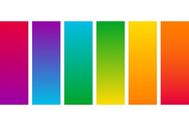 Brightlands kleurenpalet met kleurverlopen