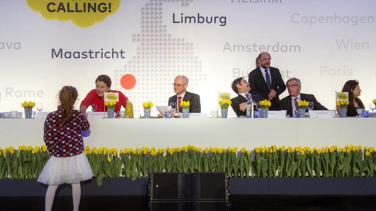 Theo Bovens, Jean-Claude Junker en andere prominenten tijdens ME & EU conferentie Europe Calling!