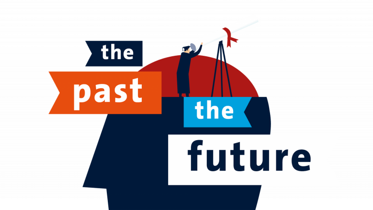 Illustratie the past the future voor Maastricht University