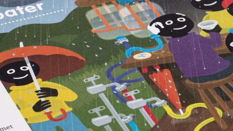Illustratie uit Heerlijk water magazine WML