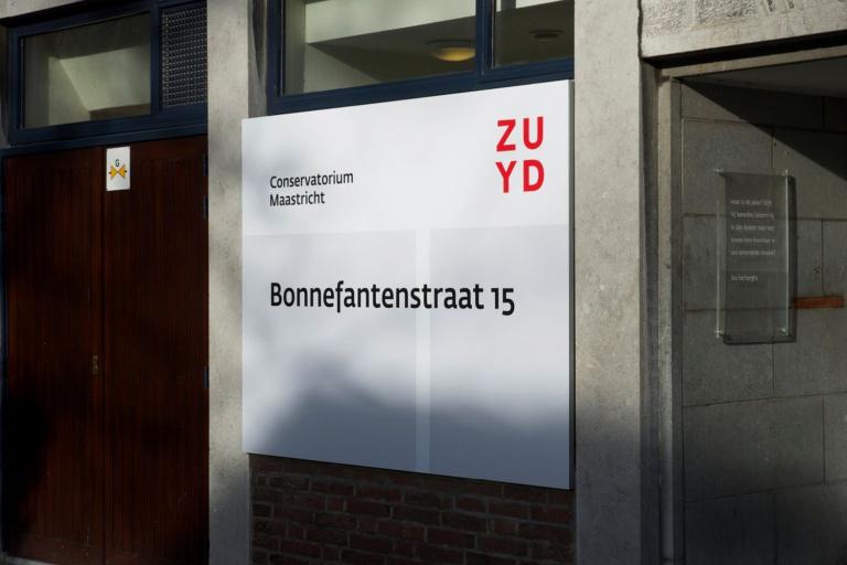 Bewegwijzering Zuyd Hogeschool Conservatorium Maastricht