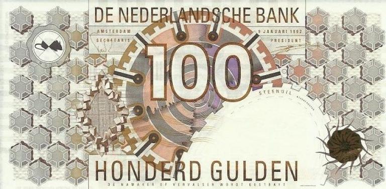 100 euro biljet Drupsteen