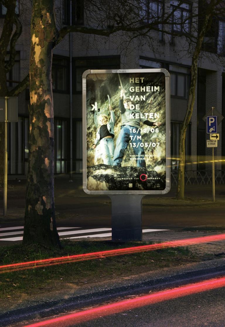 Mupi poster 'Het geheim van de Kelten' voor Limburgs Museum