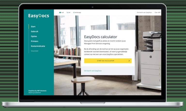 UI-design bij creative consultancy Zuiderlicht, Maastricht ARP easy docs