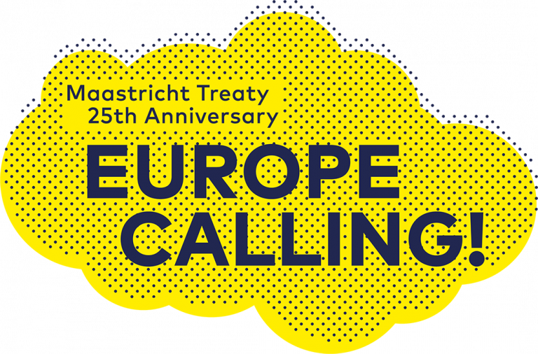 Logo Europe Calling! Maastricht Treaty 25th Anniversary
