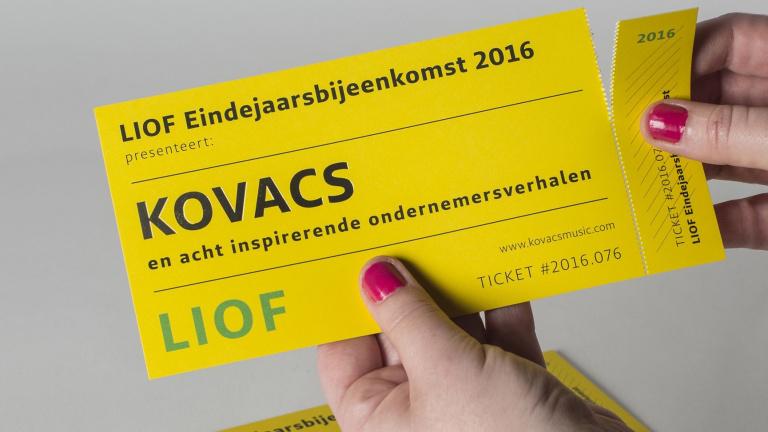 Uitnodiging LIOF Eindejaarsbijeenkomst 2016 met Kovacs