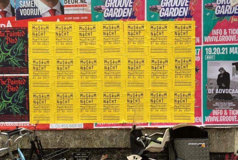 Museumnacht Maastricht aanplakbiljetten