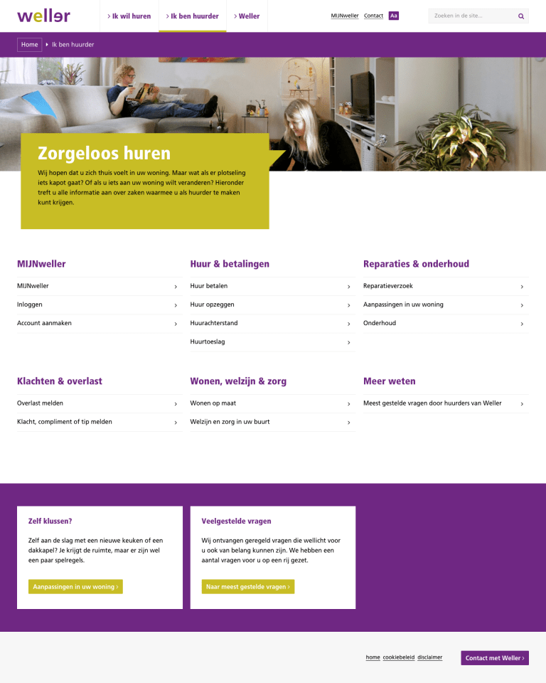 Ontwerp website Weller