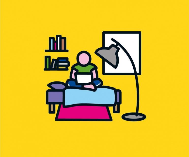 Woonpunt illustratie: op kamers